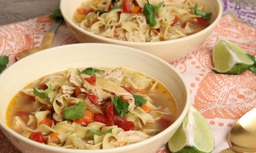 Tex Mex Chicken Noodle Soup Laura In The Kitchen