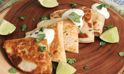 Corn and Shrimp Quesadillas