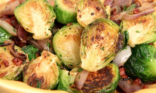 Brussels Sprouts with Onions and Pancetta