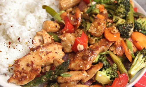 Chicken and Mixed Veggie Stir Fry