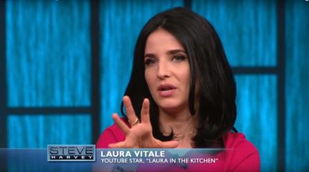 Laura Vitale on the Steve Harvey Show - April 2016 Appearance ...