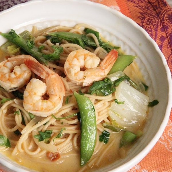 Thai Coconut Shrimp Noodle Bowl