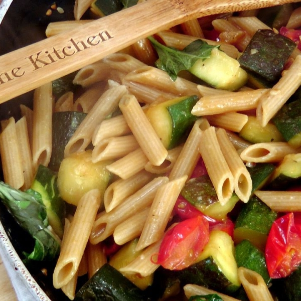 Penne with Zucchini and Cherry Tomatoes