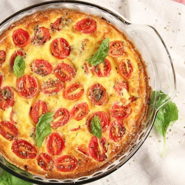 Margherita Pizza Quiche
