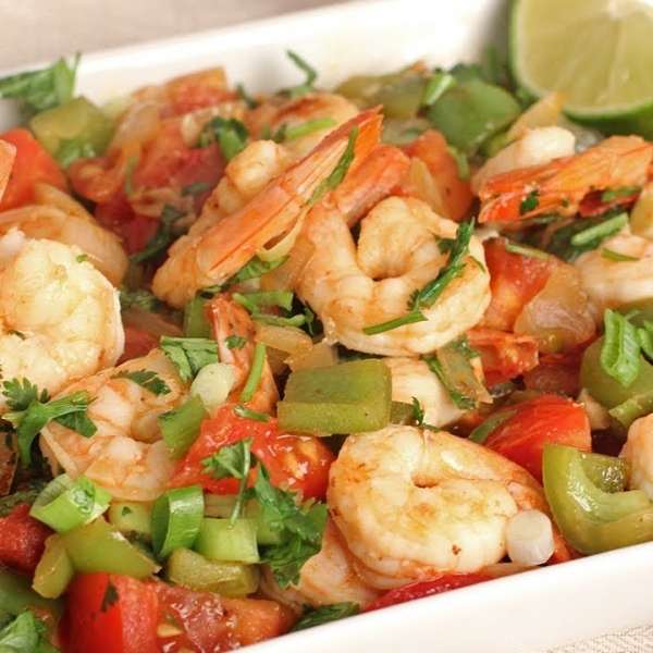 Cilantro and Lime Shrimp Stir Fry