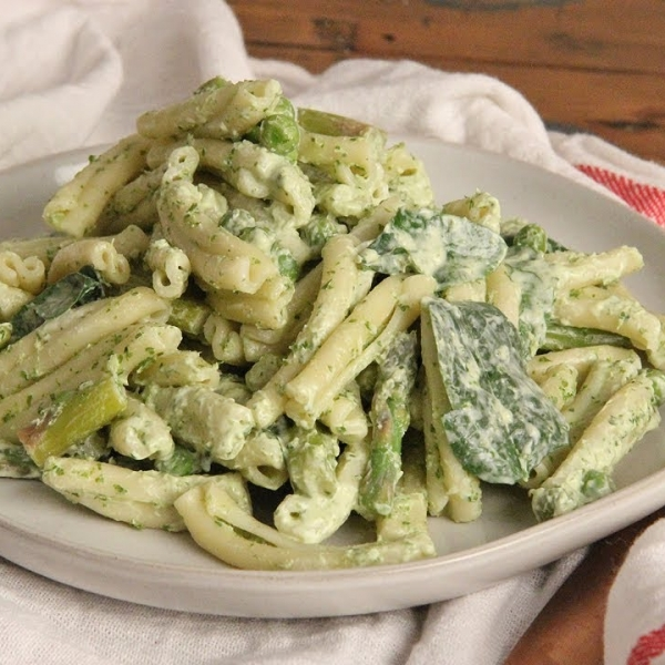 Pasta Salad with Green Goddess Dressing