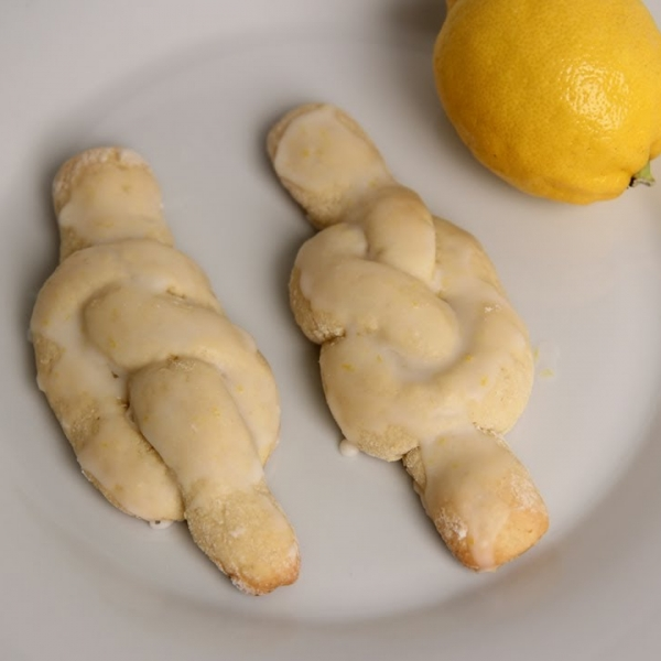 Lemon Knot Cookies