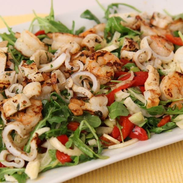 Grilled Shrimp and Calamari Salad