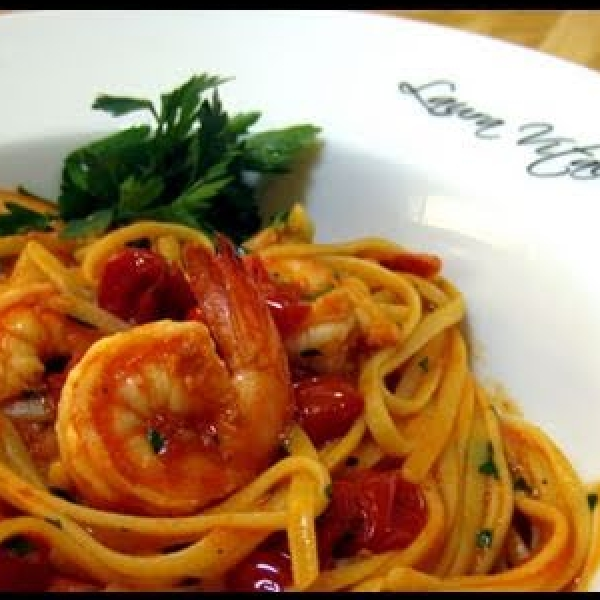 Linguine w/ Spicy Shrimp Al Diavlo (Diablo)