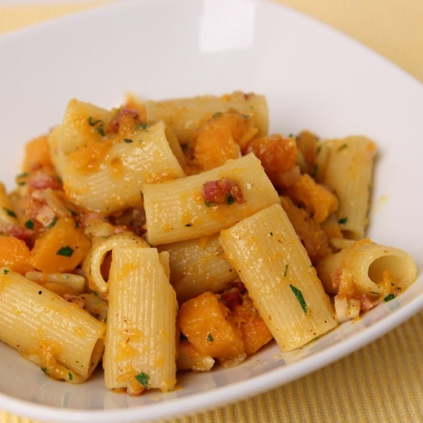 Rigatoni With Butternut Squash and Pancetta