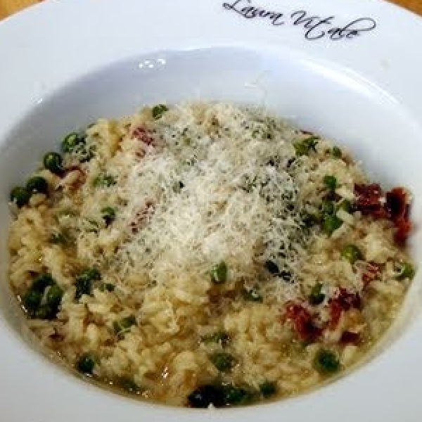 Risotto with Peas and Prosciutto
