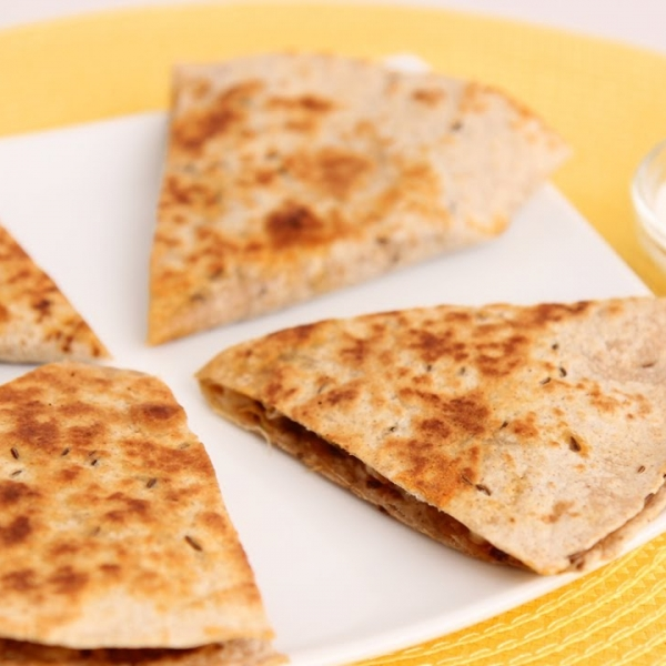 Sweet Potato and Chorizo Quesadillas