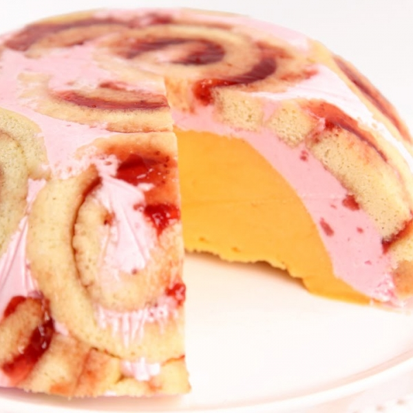 Jelly Roll Ice Cream Bombe