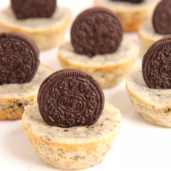 Mini Oreo Cheesecakes