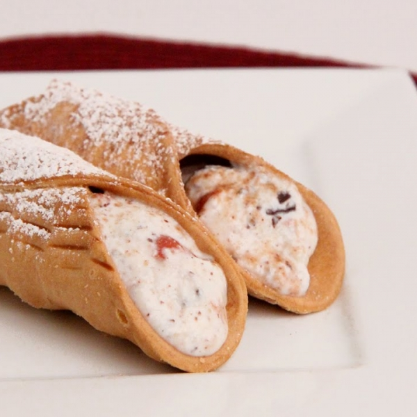 Chocolate Cherry Cannoli