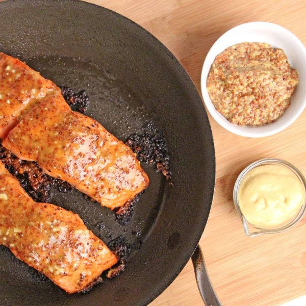 Honey Mustard Roasted Salmon