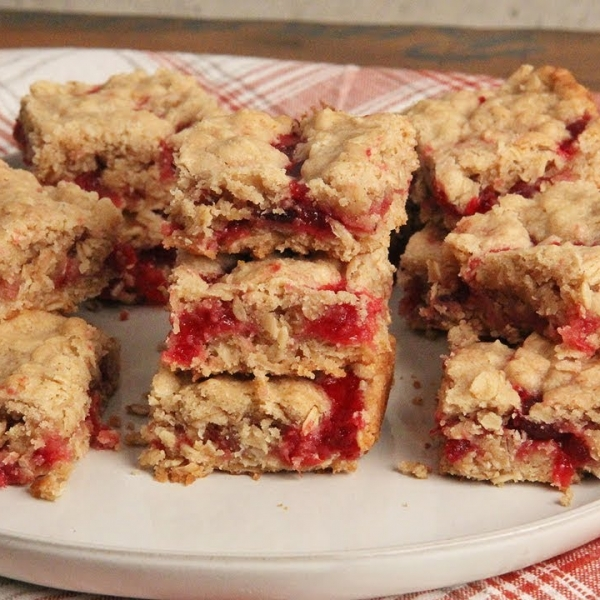 Breakfast Oatmeal Cranberry Bars
