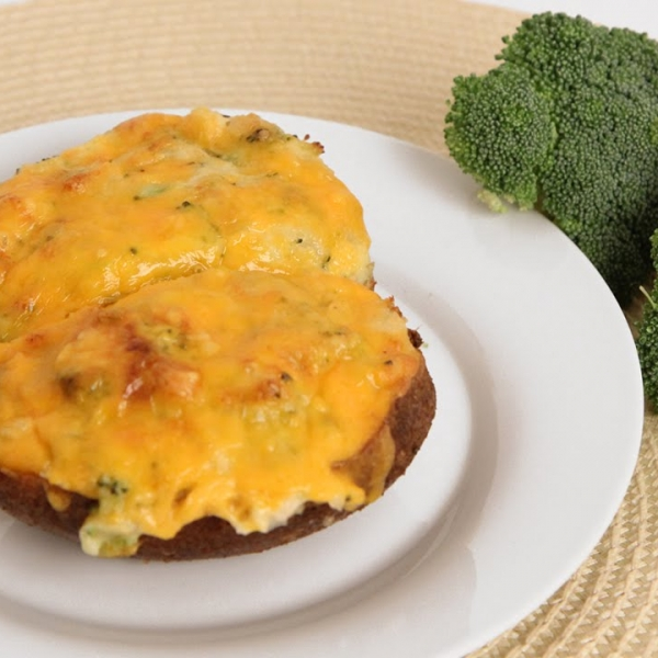 Broccoli Cheddar Twice Baked Potatoes