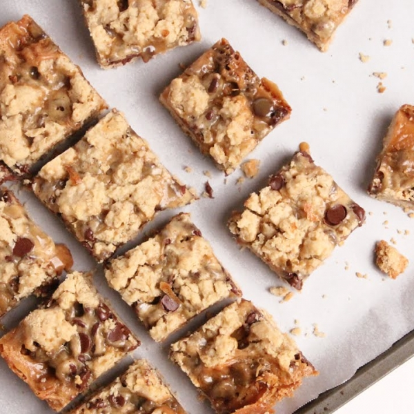 Caramel Chocolate Oatmeal Bars
