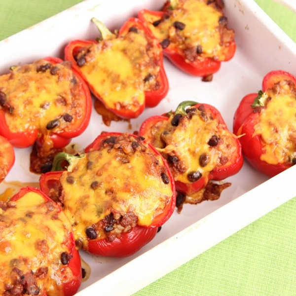 Chili Stuffed Pepppers