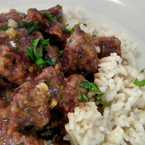 Garlic and Lemon Beef Tips