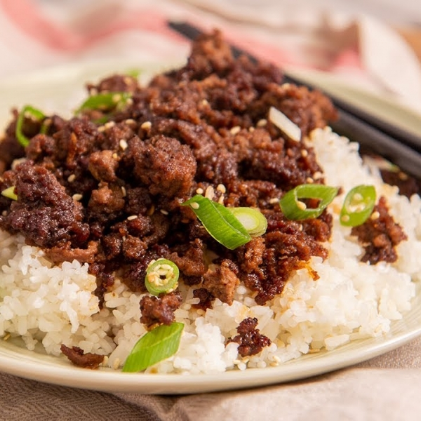 Korean Ground Beef And Rice