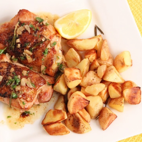 Lemon Butter Roasted Chicken