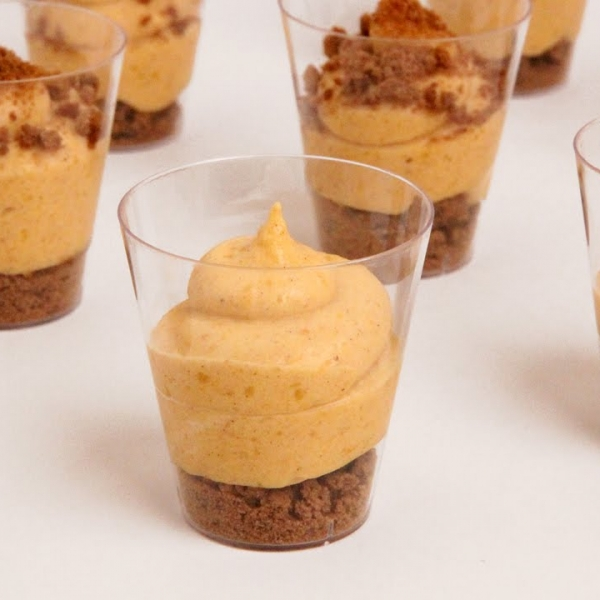 Pumpkin Pie Mousse Shots