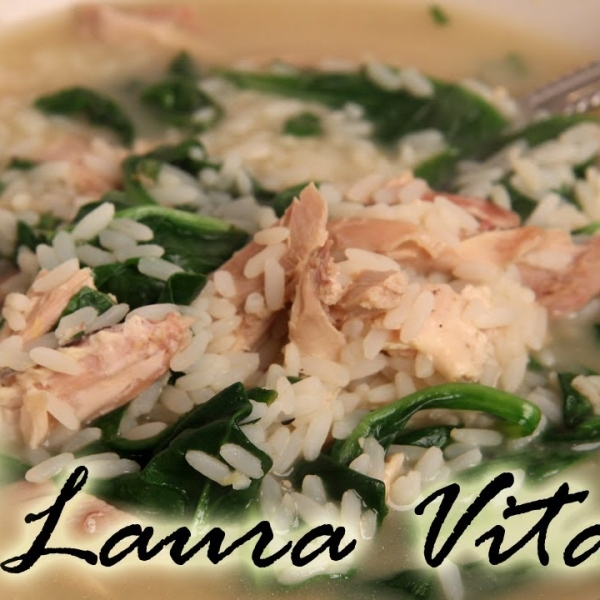 Quick Lemony Chicken & Rice Soup