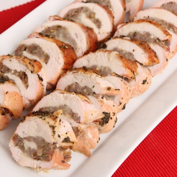 Roasted Stuffed Turkey Breast