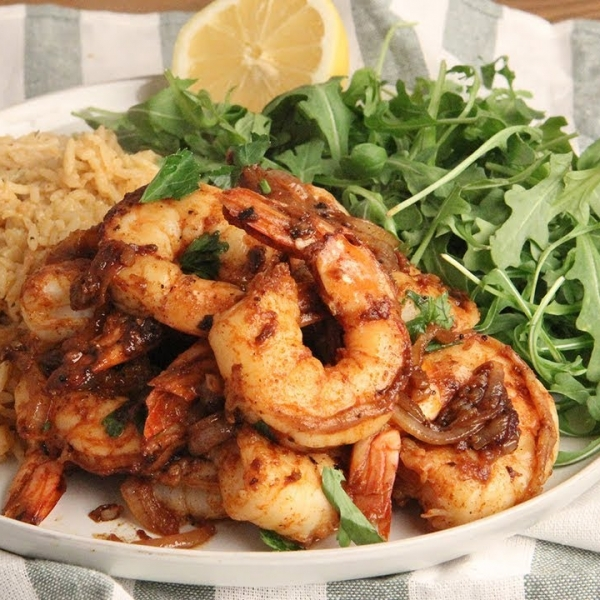 Smoky Shrimp and Rice Pilaf