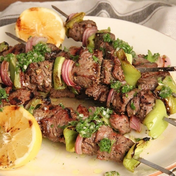 Steak Kebabs with Chimichurri