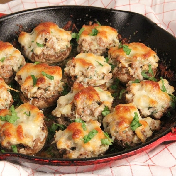 Super Creamy Stuffed Mushrooms