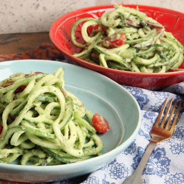 Zoodles with Avocado Pesto